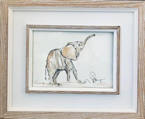 Elephant For Sale (framed) original