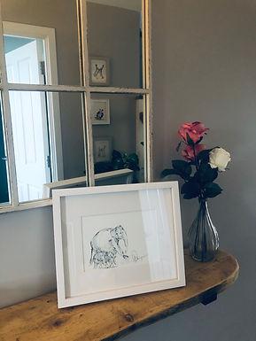 Elephants For Sale  £55 each  (mounted) originals