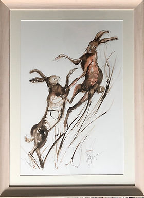 Boxing Hares For Sale Framed