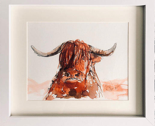 Highland Cow For Sale (1) Framed