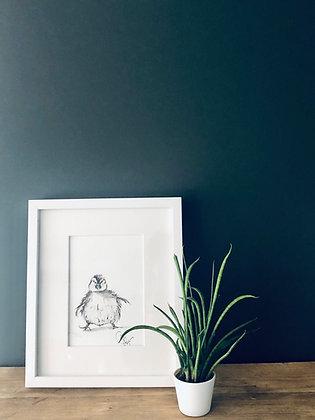 Chick 🐣 For Sale 😃 (original)  Framed