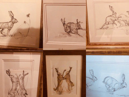 Amberley Inn - Exhibition  Art on location - created around the Cotswolds