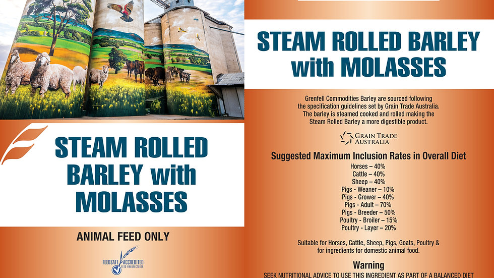 BARLEY STEAM ROLLED | WITH MOLASSES