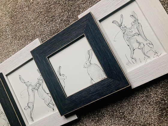 Boxing Hares For Sale Framed second in the series