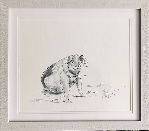 Pig For Sale Gloucestershire Old Spot Framed