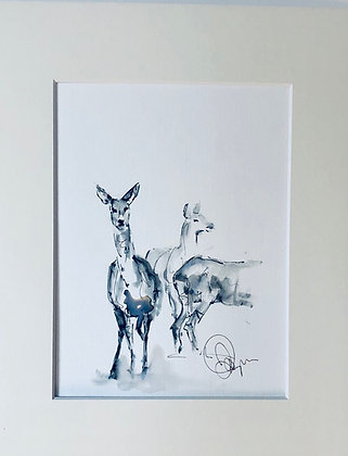 Deers For Sale sketched on location