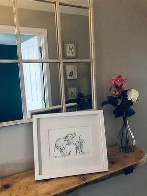 Elephants For Sale  original framed