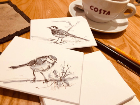 Gloucester Royal: Today's sketching whilst waiting  for my appointment - grab a Costa 😀