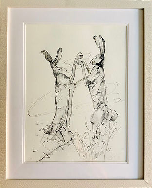Boxing Hares For Sale Limited Editions