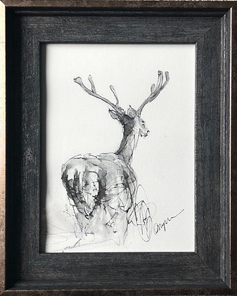 Deer For Sale Original Framed Ready To Hang  Original