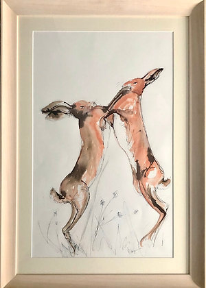 Boxing Hare For Sale Large Framed