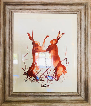 Boxing Hares For Sale Framed