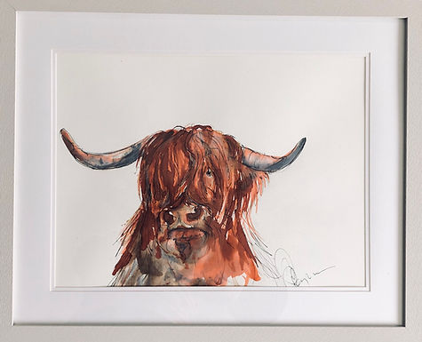 Highland Cow For Sale Framed