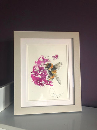 Bumble Bee 🐝 Original Drawing For Sale Framed