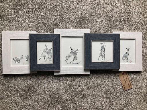 Boxing Hares For Sale (Framed)