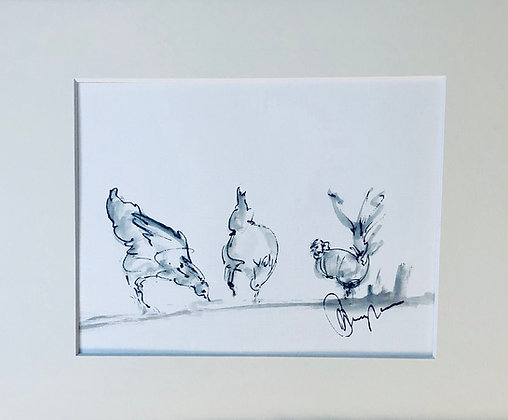 Chickens  For Sale sketched at Saul Junction