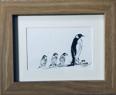 Penguins for Sale with frame