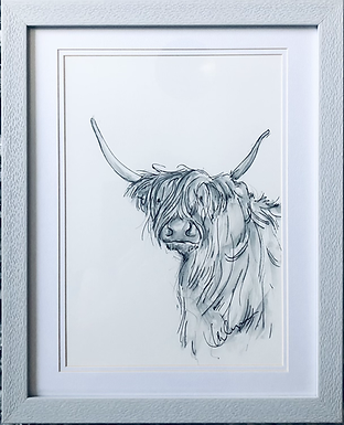 Cow from the Common Original Framed
