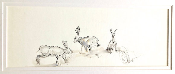 Hares For Sale Bespoke Frame (Original)