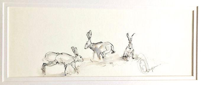 Hares For Sale Bespoke Frame (Original)