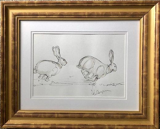 Hares For Sale Original Bespoke Frame