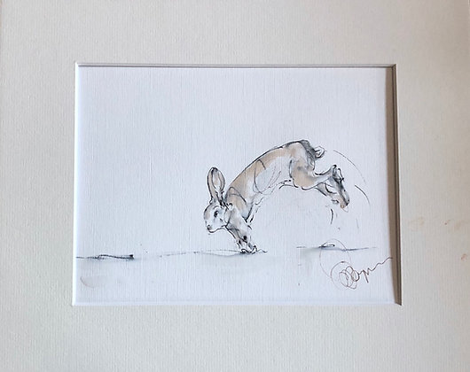 """""""Get Set"""" Hare Drawing For Sale"""