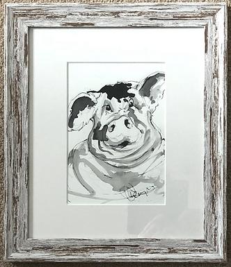 Original Pig For Sale - Framed and Mounted
