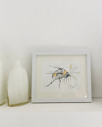 Bumble Bee Drawing for Sale no. 4 Framed