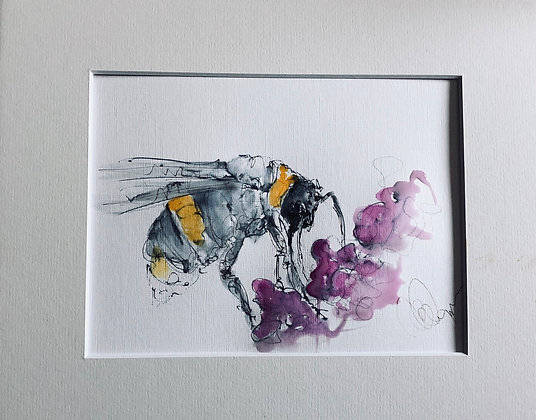 Bumble Bee 🐝 collecting pollen / Drawing For Sale
