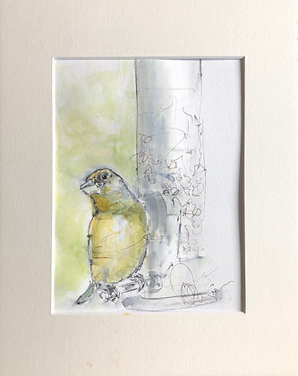 Bird Drawing For Sale (Green Finch)
