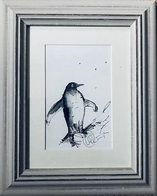 Penguins For Sale Framed