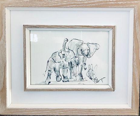 Elephant For Sale (framed) SOLD