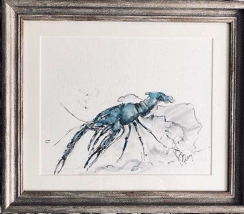 Blue Lobster For Sale Framed