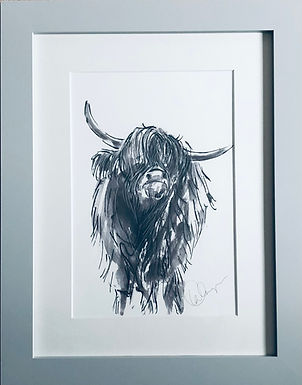 Cow For Sale Print Mounted& Framed