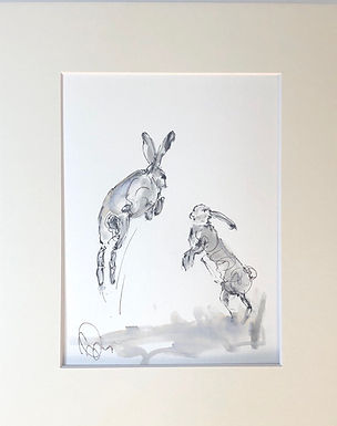 Hares For Sale sketched on location