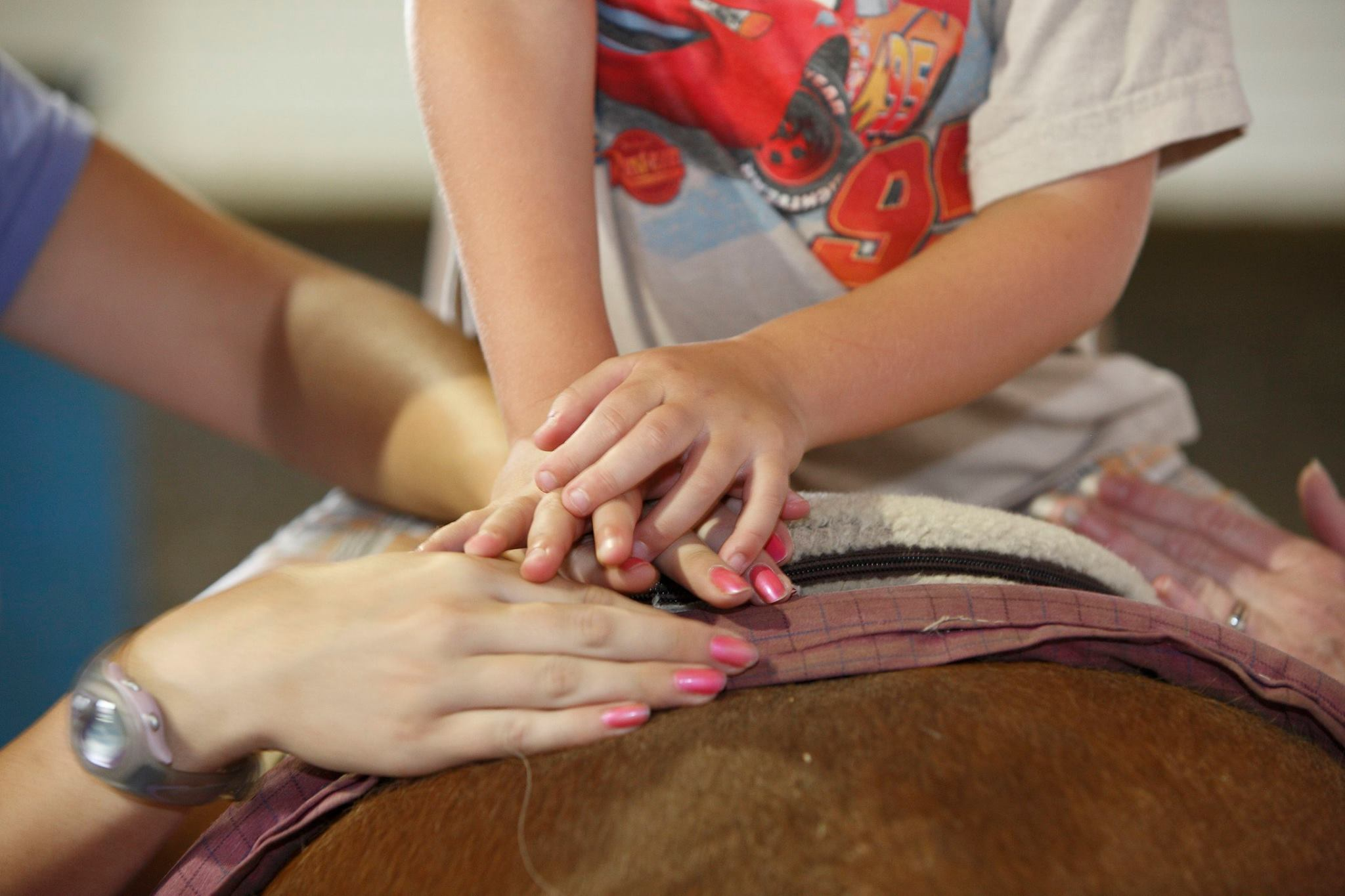 reins rider hands