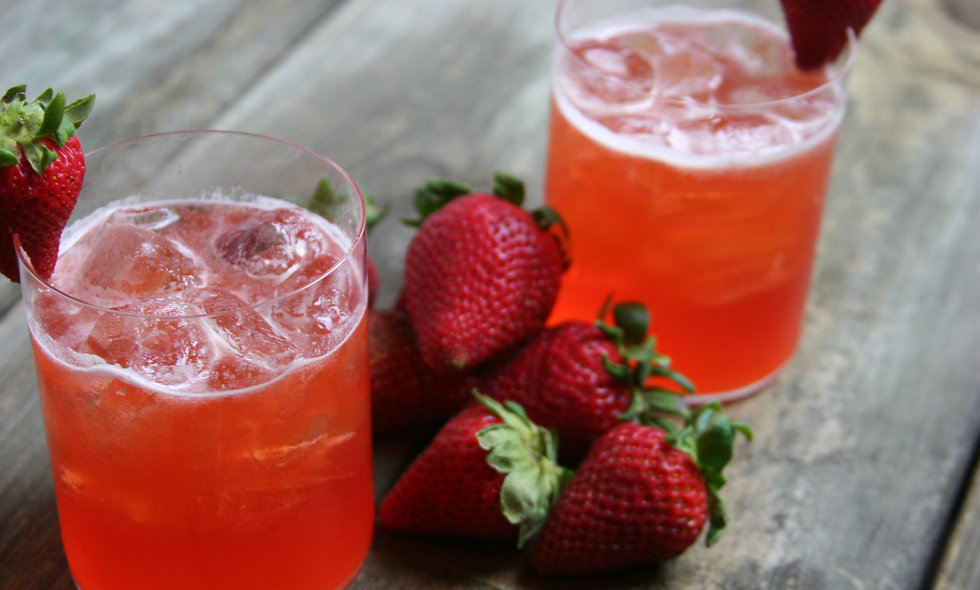 Strawberry Bourbon Smash