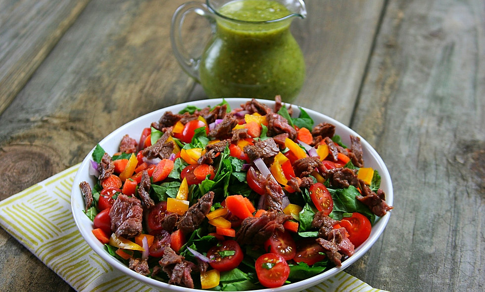 Chopped Beef Fajita Salad