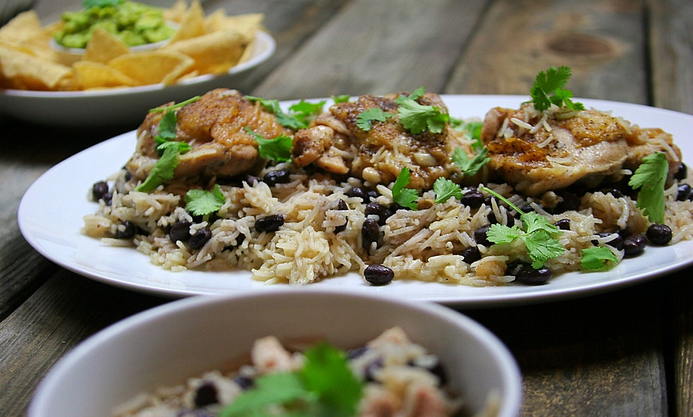 One Pot Chicken and Black Beans