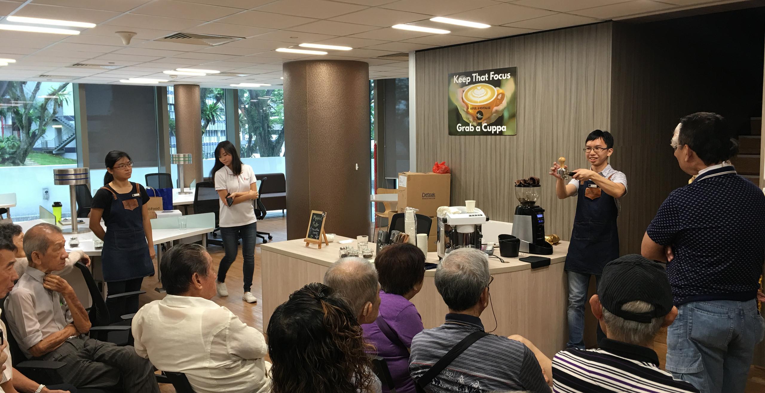 Explaining the basics of coffee-making