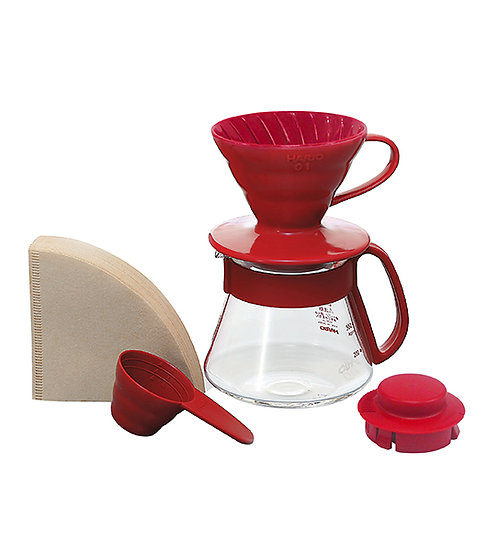 Hario V60 Brewing Starter Kit (Red)