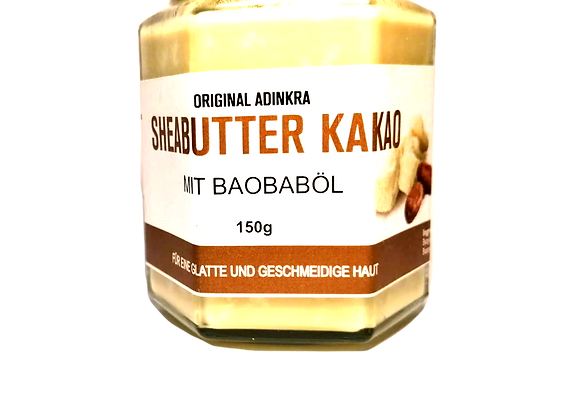 Sheabutter mit Kakaobutter und Baobaböl 150g
