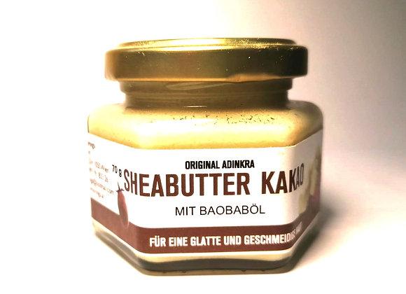 Sheabuttermit Baobab Öl und Kakaobutter 70g
