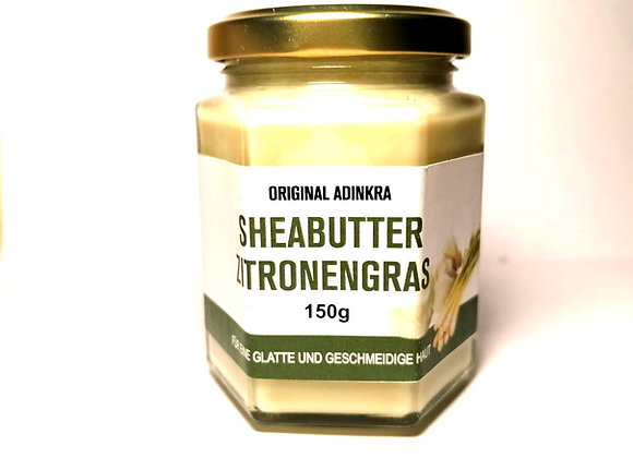Sheabutter mit Zitronengrasöl weiß 150g