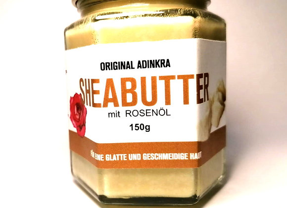 Sheabutter mit Rosenöl 150g