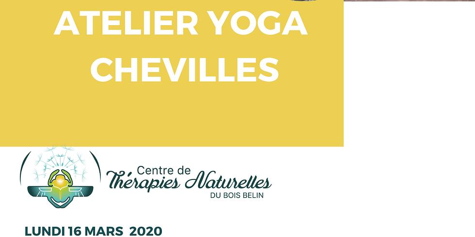 Ateliers YOGA à thèmes : yoga des chevilles