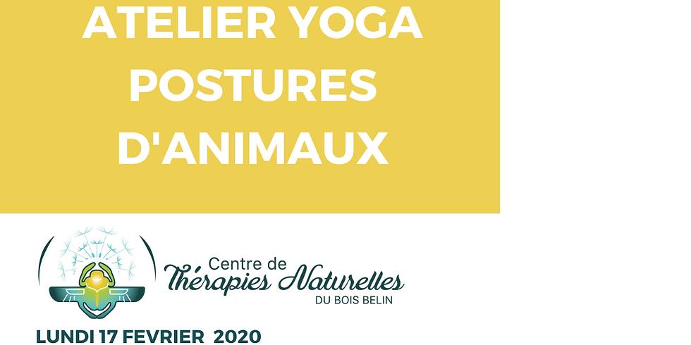Ateliers YOGA à thèmes : yoga postures d'animaux