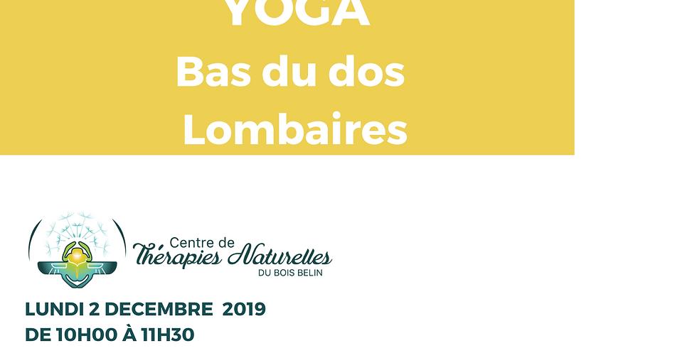 Ateliers YOGA à thèmes : Bas du dos (lombaires)