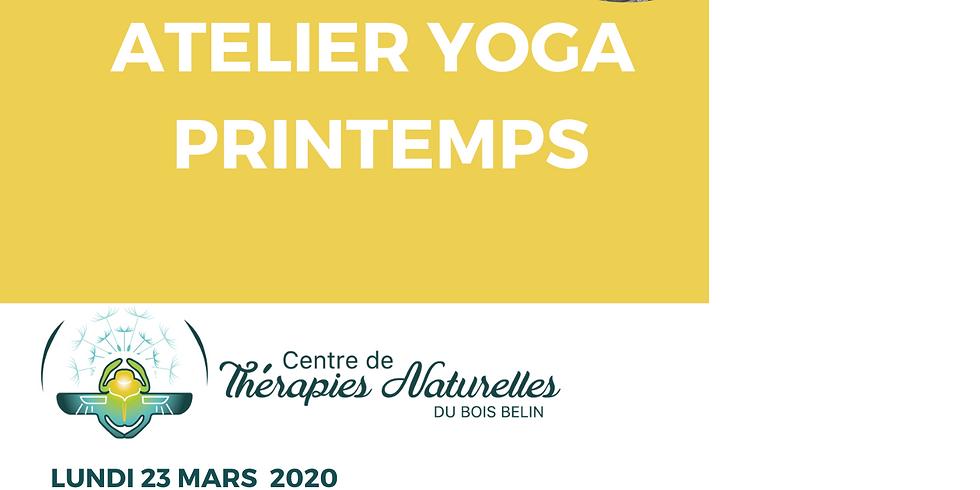 Ateliers YOGA à thèmes : yoga arrivée du Printemps
