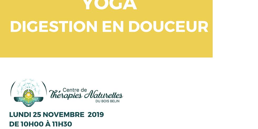 Ateliers YOGA à thèmes : Digestion en douceur